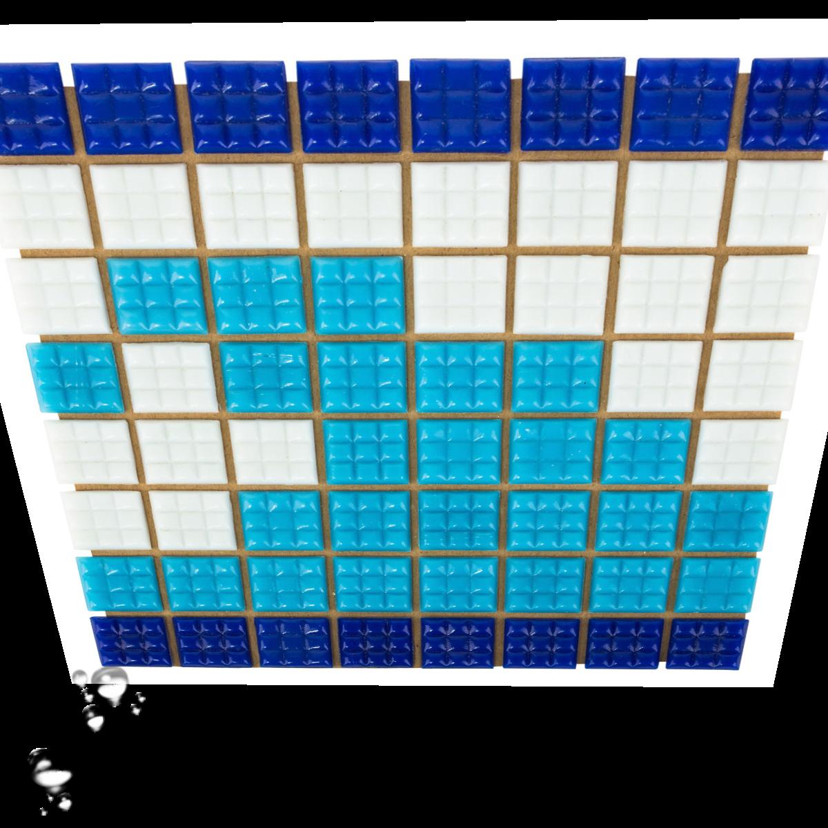 Фриз Волна из стеклянной мозаики Aquaviva U-37 для бассейна, бани, СПА