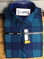 Теплая рубашка на флисе Bendu slim - 873