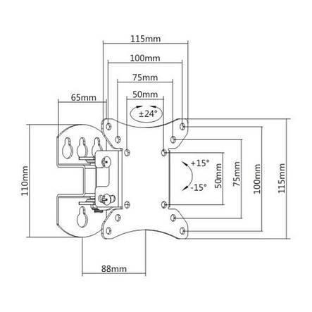 Кронштейн Brateck LCD-501N (VESA100х100), фото 2