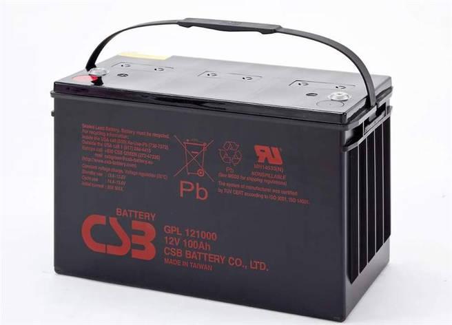 Аккумуляторная батарея CSB 12V 100AH (GPL121000) AGM, фото 2