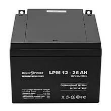Акумуляторна батарея LogicPower LPM 12V 26AH (LPM 12 - 26 AH) AGM