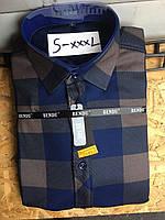 Теплая рубашка на флисе Bendu slim - 872