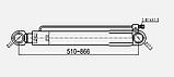 Цилиндр подъема кабины VOLVO FM12 E2 наклон кабины ВОЛЬВО ФМ12 телескоп, фото 3