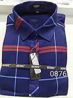 Теплая рубашка на флисе Bendu slim - 876