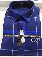 Теплая рубашка на флисе Bendu slim - 877