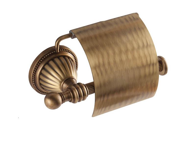Держатель для туалетной бумаги KUGU Hestia antique 911A (латунь, бронза)(Бесплатная доставка  )