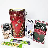Новогодний подарочный набор чая и кофе Merry Christmas 200г ТМ NADIN