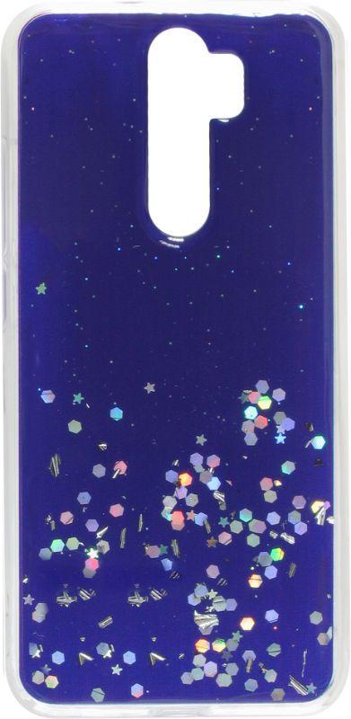 Накладка Xiaomi Redmi Note8 Pro blue/silver Confetti
