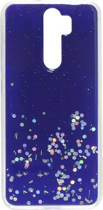 Накладка Xiaomi Redmi Note8 Pro blue/silver Confetti, фото 2