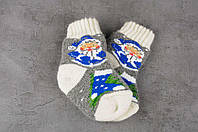 Детские шерстяные носки, носочки из натуральной шерсти, носки для самых маленьких, 13-16 см