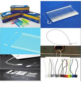 Ярлыко и биркодержатели пластиковые, веревочные соединители, петли, крючки