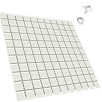 Мозаика стеклянная Aquaviva Сristall белая DCM308 для бассейна и хаммама