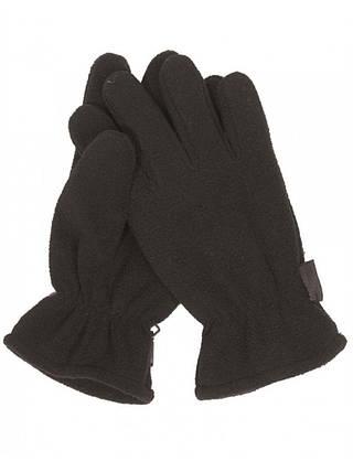 Зимние флисовые перчатки черные, фото 2