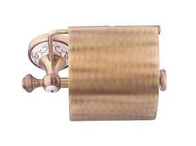 Держатель для туалетной бумаги KUGU Medusa 711A (латунь, бронза/керамика)(Бесплатная доставка  ), фото 2