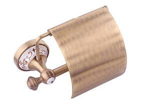 Держатель для туалетной бумаги KUGU Medusa 711A (латунь, бронза/керамика)(Бесплатная доставка  ), фото 3