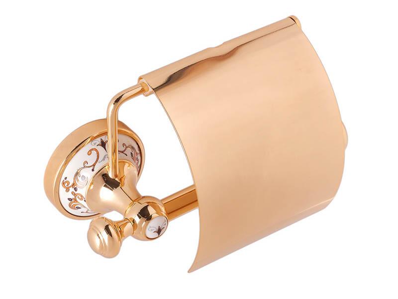 Держатель для туалетной бумаги KUGU Medusa 711G (латунь, золото, керамика)(Бесплатная доставка  )