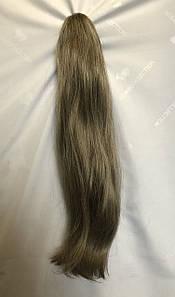 Ровный шиньон хвост на крабе  Цвет пшенично-золотистый с блондом