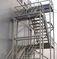 Изготовление промышленных лестниц из металла