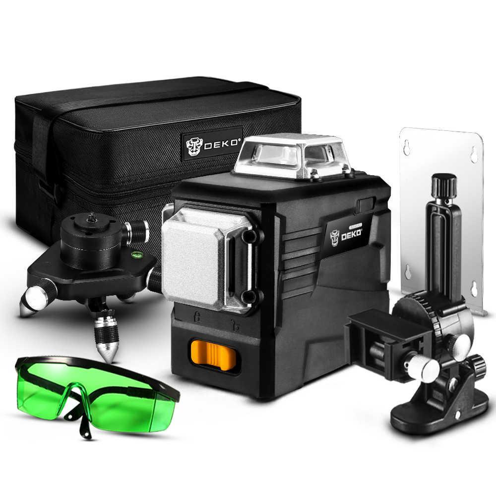 DEKO DKLL12PB2 3D 12 линий Лазерный уровень ➜ ТРЕНОГА + МАГНИТНЫЙ КРОНШТЕЙН + МИНИ-ШТАТИВ
