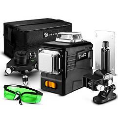 DEKO DKLL12PB2 3D 12 линий Лазерный уровень ➜ МИНИ-ТРЕНОГА + МАГНИТНЫЙ КРОНШТЕЙН