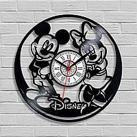 Микки Маус часы Часы для детей Часы виниловые Часы в детскую комнату Mickey Mouse Декор детской Дисней часы
