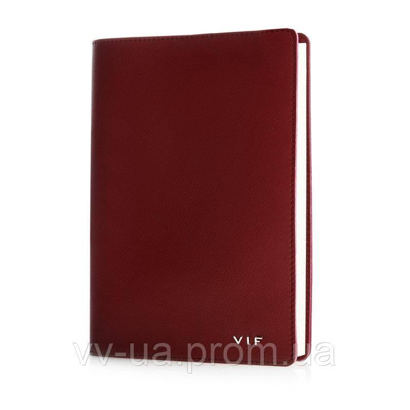 Ежедневник VIF 2020 со съемной обложкой, A5, красный, 11106-06Е-60