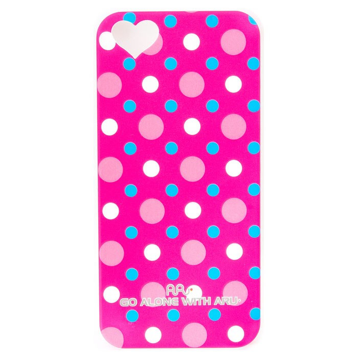 Чехол ARU для iPhone 5/5S/5SE Cutie Dots Red