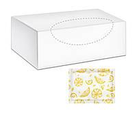 """PRO Service Салфетки влажные для рук и лица в индивидуальной упаковке """"Лимон"""" 6х8 см 80 шт. в боксе"""