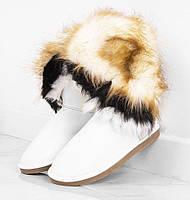 Зимняя женская обувь, белые угги