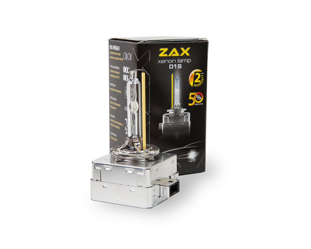 Ксеноновая лампа Zax metal base D1S +50% 6000K (hub_jPPV79593)