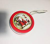Новогодний коробка, Дед Мороз Ретро, Жестяная упаковка для конфет, 100 гр,  Металлическая коробка для конфет