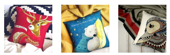 Новорічні та різдвяні подушки