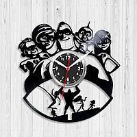 Суперсемейка часы Часы для детей Виниловые часы Incredibles Часы в детскую комнату  Декор детской Дисней часы