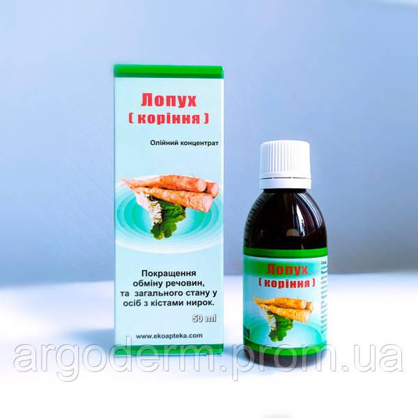 Масло корня лопуха концентрат при подагре, сахарном диабете, нарушениях обмена веществ
