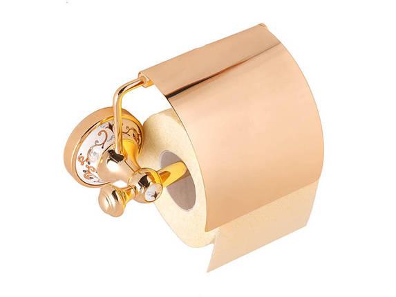 Держатель для туалетной бумаги KUGU Medusa 711G (латунь, золото, керамика)(Бесплатная доставка  ), фото 2