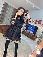 Красивое платье в горошек с пышной юбкой tez1603532, фото 1