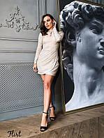 Мерцающее платье с вырезом - каплей и асимметричной юбкой tez3603556, фото 1