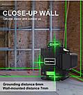 4D Лазерный уровень PRACMANU 16 линий для стяжки пола ➜ ПУЛЬТ ➜ Зеленые лучи ➜ ГАРАНТИЯ: 1 год, фото 6