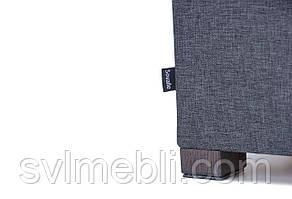 Пуф Турин с ящиком, рогожка темно-серая , ножки венге, фото 2