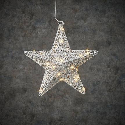 "Звезда декоративная серебро, диам. 30 см, 30 led, ""Luca Lighting"", фото 2"