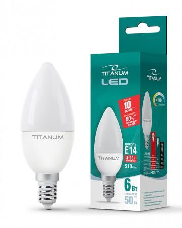 Лампа LED TITANUM C37 6W E14 4100K 220V