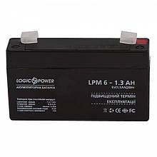 Акумуляторна батарея LogicPower LPM 6V 1.3 AH (LPM 6 - 1.3 AH) AGM