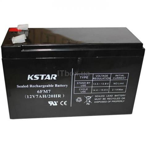 Аккумуляторная батарея KSTAR 12V 7Ah (6-FM-7) AGM, фото 2