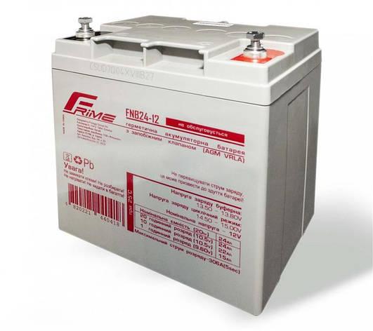 Аккумуляторная батарея Frime 12V 24AH (FNB24-12) AGM, фото 2