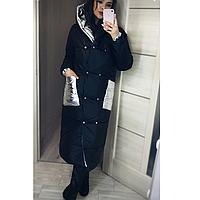 Женская куртка пальто стильное длинное зимнее