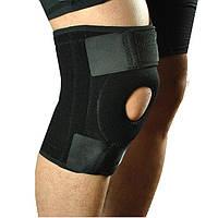 Наколенник, фиксатор коленного сустава с открытой коленной чашечкой, цвет черный, 1 шт.