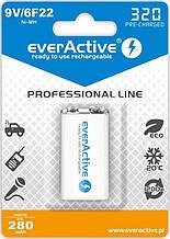 Аккумулятор everActive 6LR61 320mAh BL 1шт