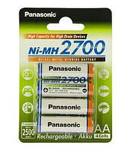 Аккумуляторы Panasonic High Capacity AA/HR06 NI-MH 2700 mAh BL 4 шт