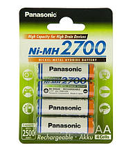 Акумулятори Panasonic High Capacity AA/HR06 NI-MH 2700 mAh BL 4 шт