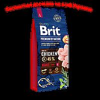 Brit premium Dog Adult L Брит премиум для взрослых собак Л крупных пород 15кг БЕСПЛАТНАЯ ДОСТАВКА